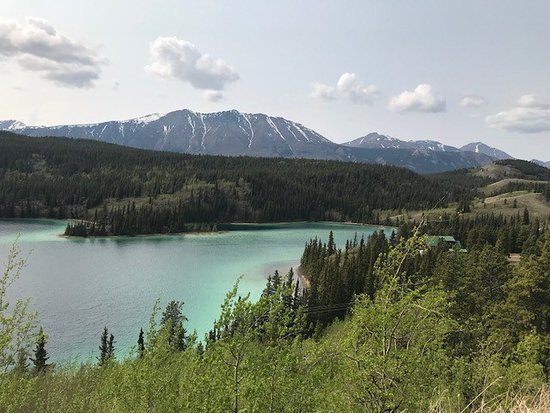 ‪‪Skagway Shore Excursion: Full-Day Tour of the Yukon‬: Gorgeous Emerald Lake. This was just taken with an iPhone and it's still stunning.‬