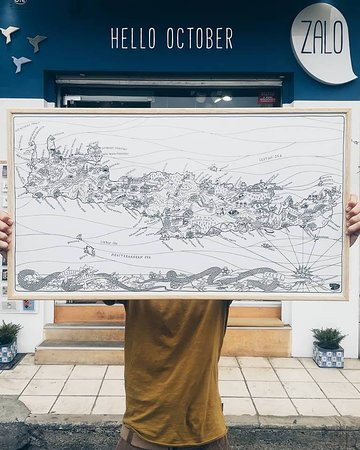 Colour in Crete 🎨 . An illustrated map of Crete, ready for your pencils, markers and crayons. Colour everything or colour where you've been. . Dimensions: 82x45cm On Eco friendly card ♻️