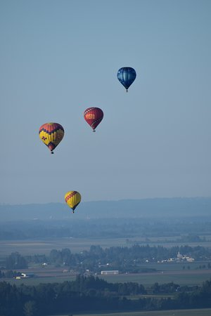 Hot air balloons from our balcony...what a wake up surprise on our last morning