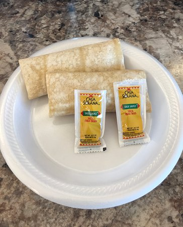breakfast burritos (sausage, egg and cheese)
