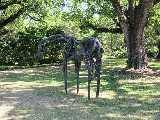 The Sydney and Walda Besthoff Sculpture Garden at NOMA: Bronze horse