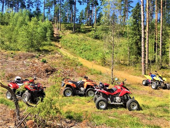 "Vecumnieki, Latvia: QUAD SAFARI in Latvian forests with ""GREENROADTRIPS""  Best ATV tours in Latvia.   САФАРИ на квадроциклах вместе с ""GREENROADTRIPS""  Kvadraciklu ""SAFARI"" Vecumniekos."