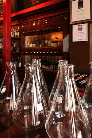 """Old City Wine Bar, 108 W Jackson Ave, Knoxville, TN - Bar Area w/ """"Decanters"""""""