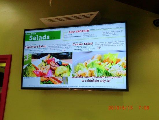 サラダもありました