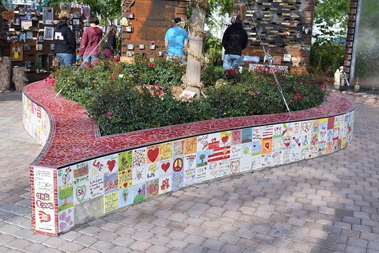 Beautiful Heart Shaped Raised Garden Adorned With Tiles Made By