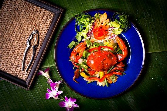 ปูผักพริกไทยพริกไทยดำ Crab, vegetables, pepper, black pepper