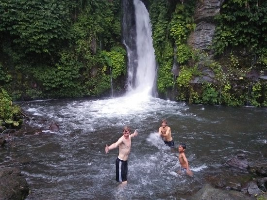 Umejero waterfall less than an hour walk fro Atres Sari Resort