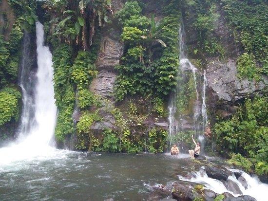 Umejero waterfall less than an hour walk fro Atres Sari Resort