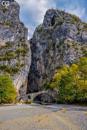 The gorgeous Portitsa gorge and old arched bridge!  More info about Portitsa: https://bit.ly/2G7t45i