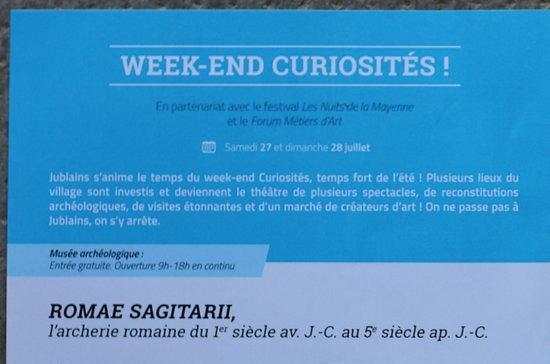 Musee et Site archeologique Jublains: Le flyer de cette activité