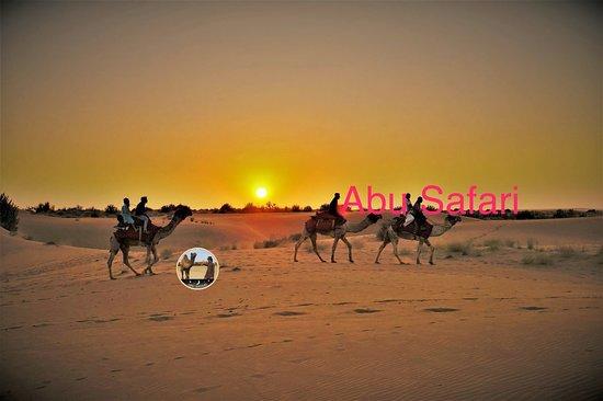 amazing sunset on the dunes
