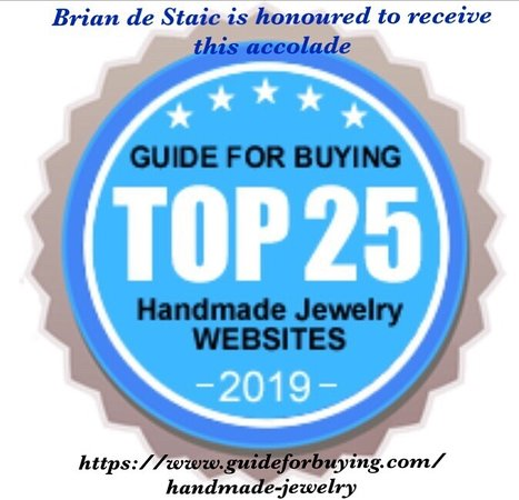 Brian de Staic Jeweller: Another accolade for Brian de Staic. Top 25 Handmade Jewelry Website in the world. www.briandestaic.com