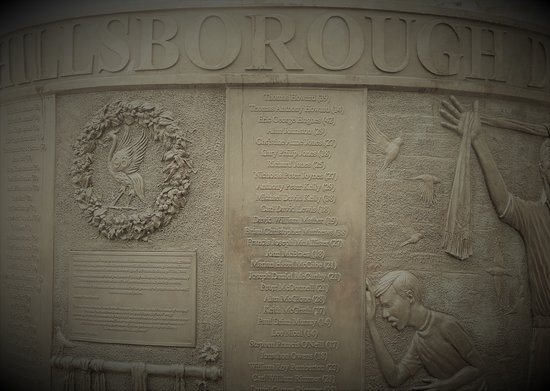 St.John's Gardens: Memorial for the victims of the Hillsborough disaster.