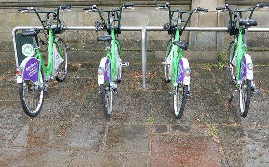 """St.John's Gardens: Bike Hire outside St.John""""s Gardens."""