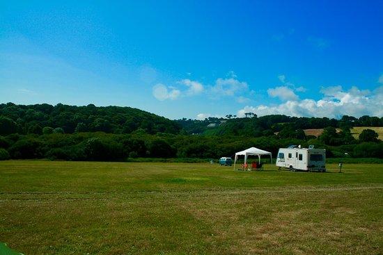 Maenporth, UK: Campsite grounds.