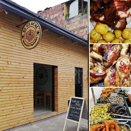 Sibate, كولومبيا: Diferentes platos, aparte de picada. Se puede armar la picadaal gusto.