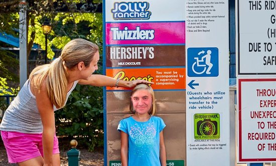 Hersheypark: my daughter was tall enough!
