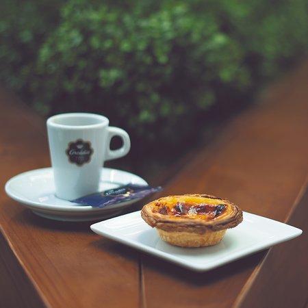 Arcádia Casa do Chocolate (Mercado Bom Sucesso): Café + Pastel de Nata