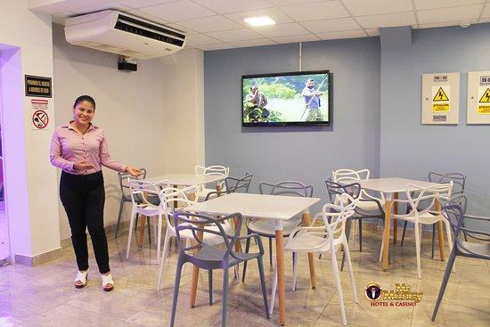 Zarumilla, Peru: Apacible comedor disponible para reuniones sociales o de negocios.