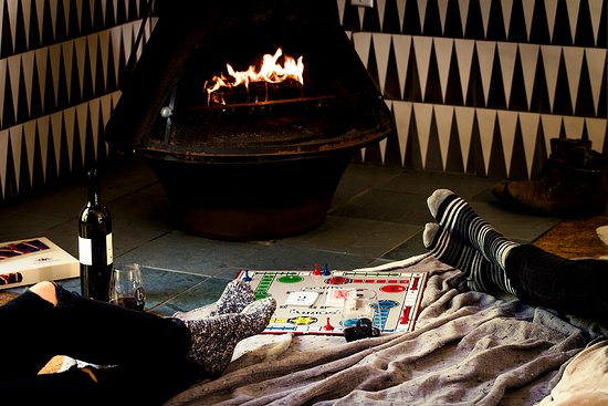 boon hotel + spa - games by the fire