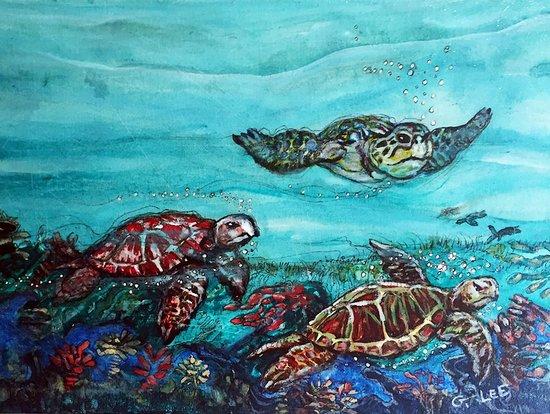 """G.Lee Gallery: """"Sea Turtle Ballet"""" by George Douglas Lee"""