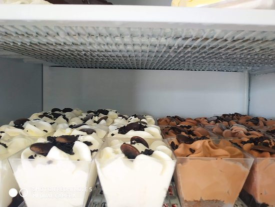Frozen ice cream deserts