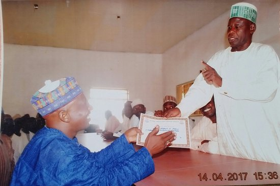 Kukawa, Nigeria: The hard worker chairman of Union Abba Adam Alh Modu Ajimi