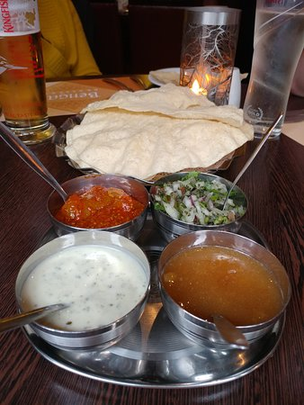 Papadoms & Pickles - Bengal Brasserie in York (28/May/19).