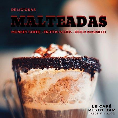 Malteadas: Monkey Coffe - Frutos Rojos - Fiesta Oreo.