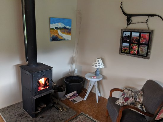 Rata Escape: Woodburner and easy-chair
