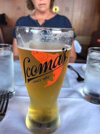 Scoma's own beer-very light and smooth