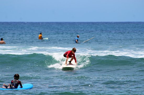 Rd.2 Happiness: One of several times in which the kids were able to stand on the surf board