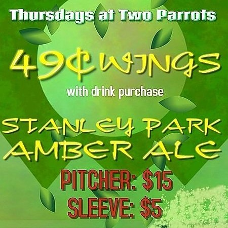 The Two Parrots Bar and Grill: The Two Parrots Bar and Grill