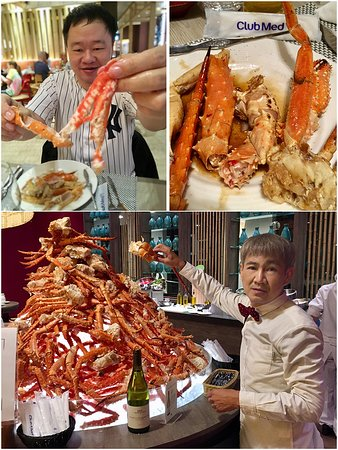 Pulp King Crab legs, cooked to your style.