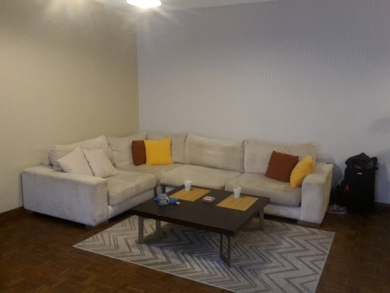 Tallinn City Apartments: Spacious living area. Sofa comfortable to sleep on.