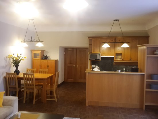 Tallinn City Apartments: Dining and kitchen area.
