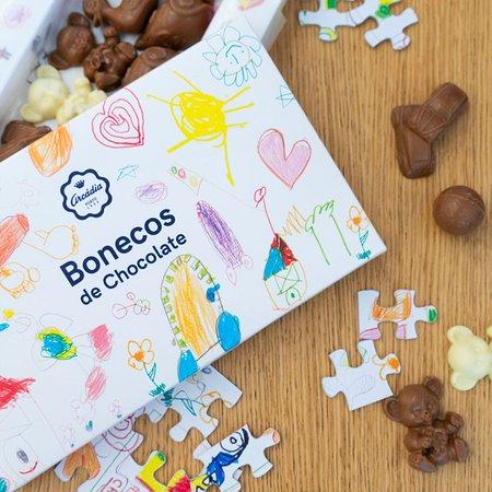 Gama Infantil - Bonecos de Chocolate de Leite e Chocolate Quente 150grs
