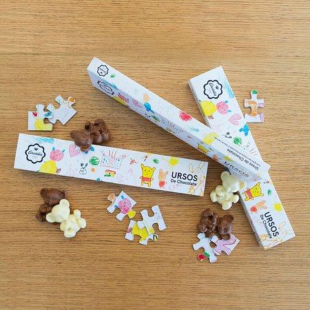 Gama Infantil - Ursos de Chocolate de Leite/Chocolate Branco 75grs