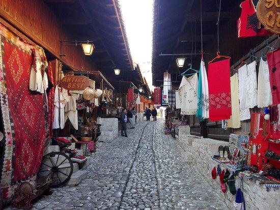 Day tour of Kruja from Tirana: Old street in Kruja.