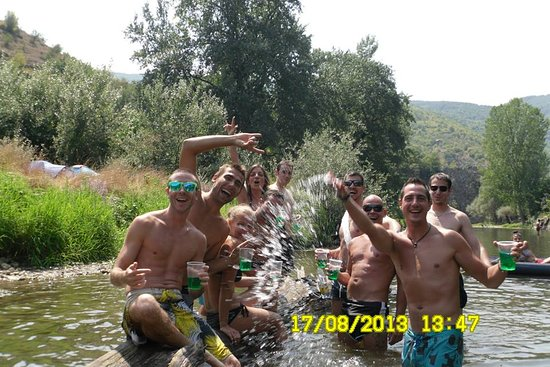 Boboshevo, Bulgaria: Dimitar and his group at Struma River.