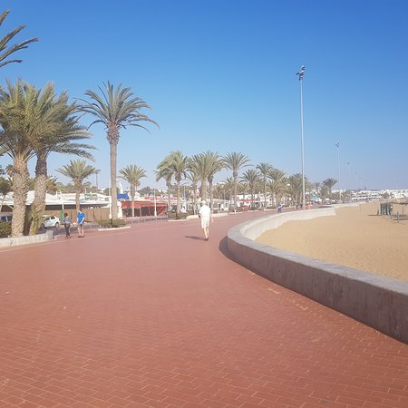 The seafront just in front of Club Al Moggar's 'seafront' entrance. Agadir.