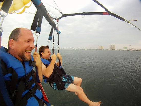 Key Sailing: Parasailing over Santa Rosa Sound.