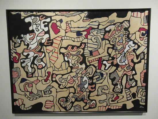 """Centre Pompidou Malaga: """"Chaîne de mémoire III (EG 130)"""" (1964) par Jean DUBUFFET (1901-1985)"""