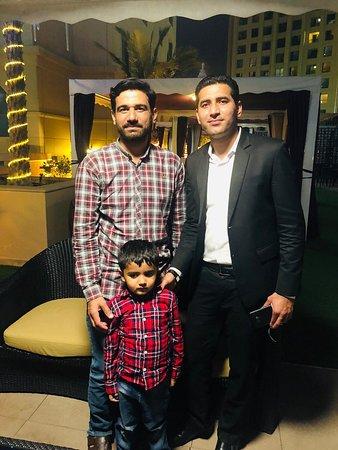 The Talk Restaurant: With my great friend Badar Zaman