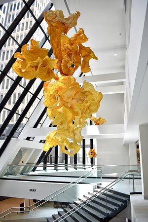 """""""Burst of Sunlight"""" art installation in the Hub"""