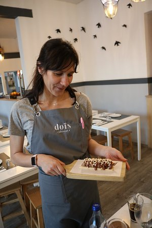 Dois Petiscos: Dessert presented by Margarida