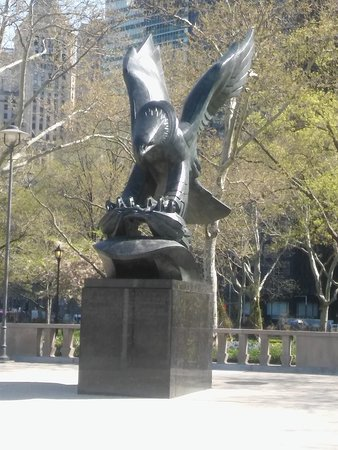Statue in Battery Park