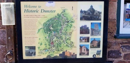 Dunster Village: Map of Historic Dunster