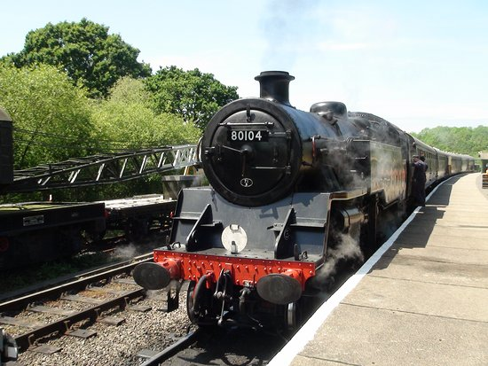Swanage Railway: 80106 at Norden ready for the off.