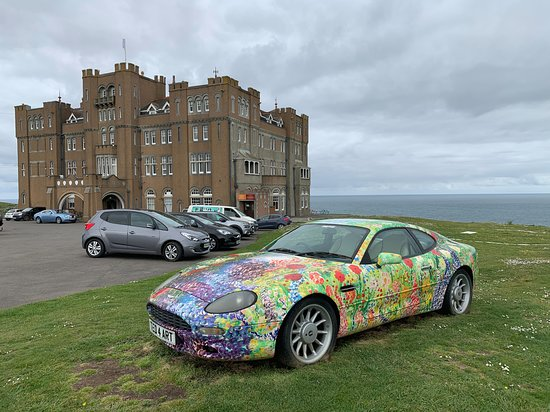 Outside With Ted S Artwork Wrapping An Aston Martin Picture Of Camelot Castle Hotel Tintagel Tripadvisor